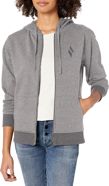 Skechers Womens Diamond Logo Full Zip Hoodie Sweatshirt Hooded Sweatshirt