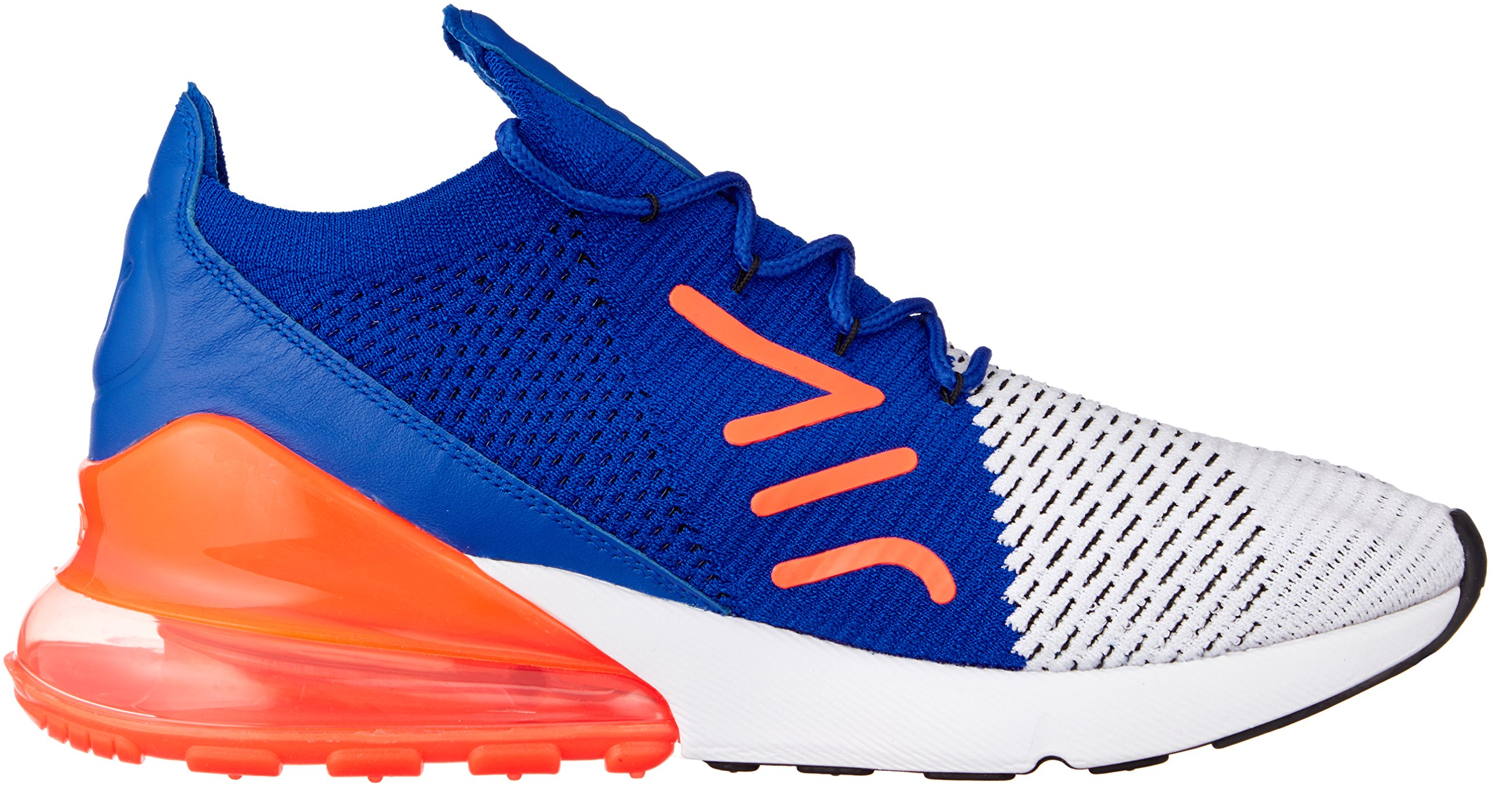 Nike Men's Air Max 270 Flyknit, White/Black-Racer Blue, 10.5 M US by Nike (Image #6)