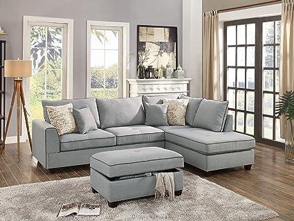 Sensational Amazon Com Modern 3Pc Sectional Sofa Living Room Furniture Alphanode Cool Chair Designs And Ideas Alphanodeonline