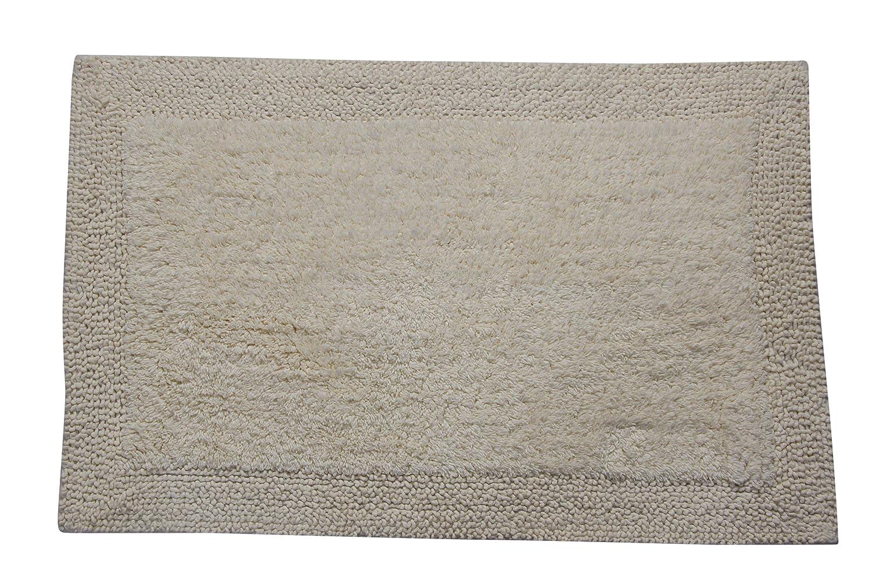 Castle Hill Bella Napoli 100/% Cotton Reversible Bath Rug 20X30 Ivory CH-BR-20X30-BNAP