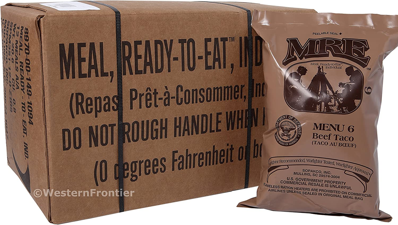 Ready to eat Dessert 18 Portionen 6x US Army MRE EPA Verpflegung Notration