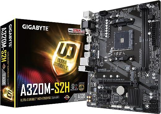 GIGABYTE GA-A320M-S2H (AMD Ryzen AM4 / MicroATX / 2xDDR4/ HDMI/Realtek ALC887/ 3xPCIe/ USB3.1 Gen 1/ LAN/Motherboard)