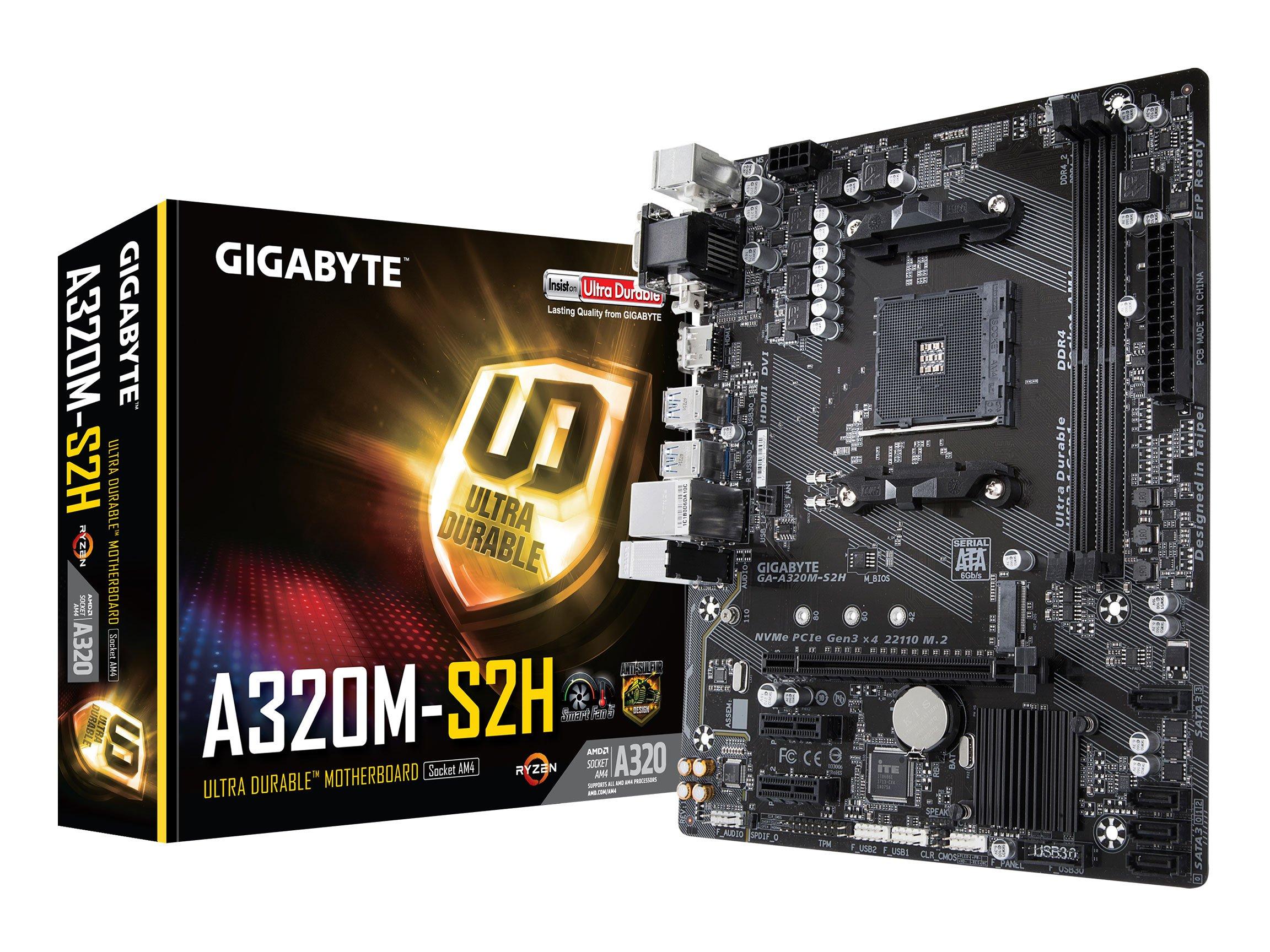Gigabyte Ga-a320m-s2h (amd Ryzen Am4 / Microatx / 2xddr4/...
