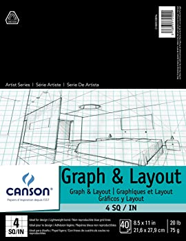Canson Layout Pad Blue Graph Paper