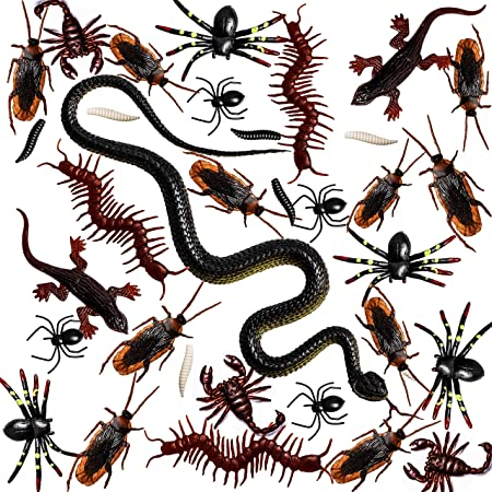 Details about  /10 x Halloween Plastic Trick Prank Bug Insect Fake Cockroaches Realistic