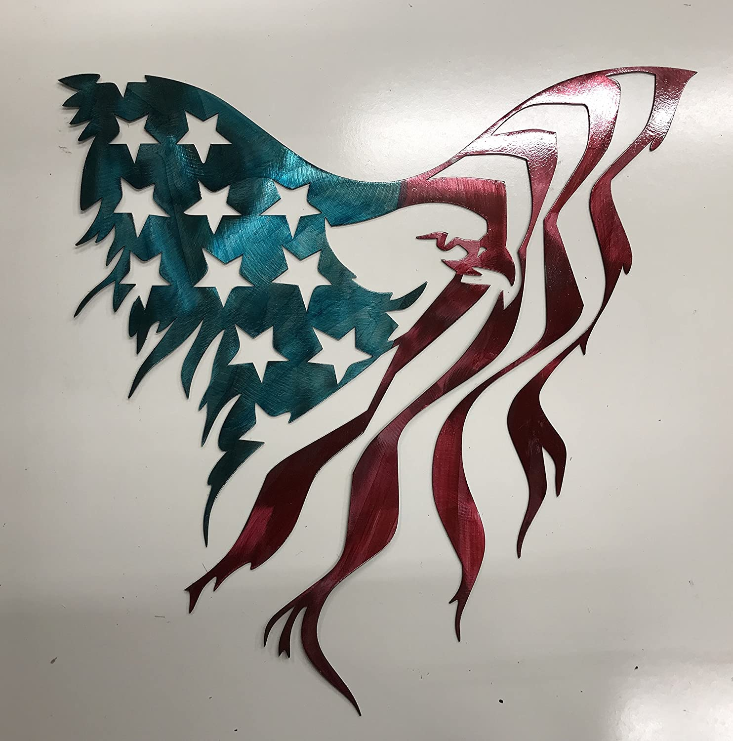 American Eagle Flag Metal Sign Wall Art Home Decor Free