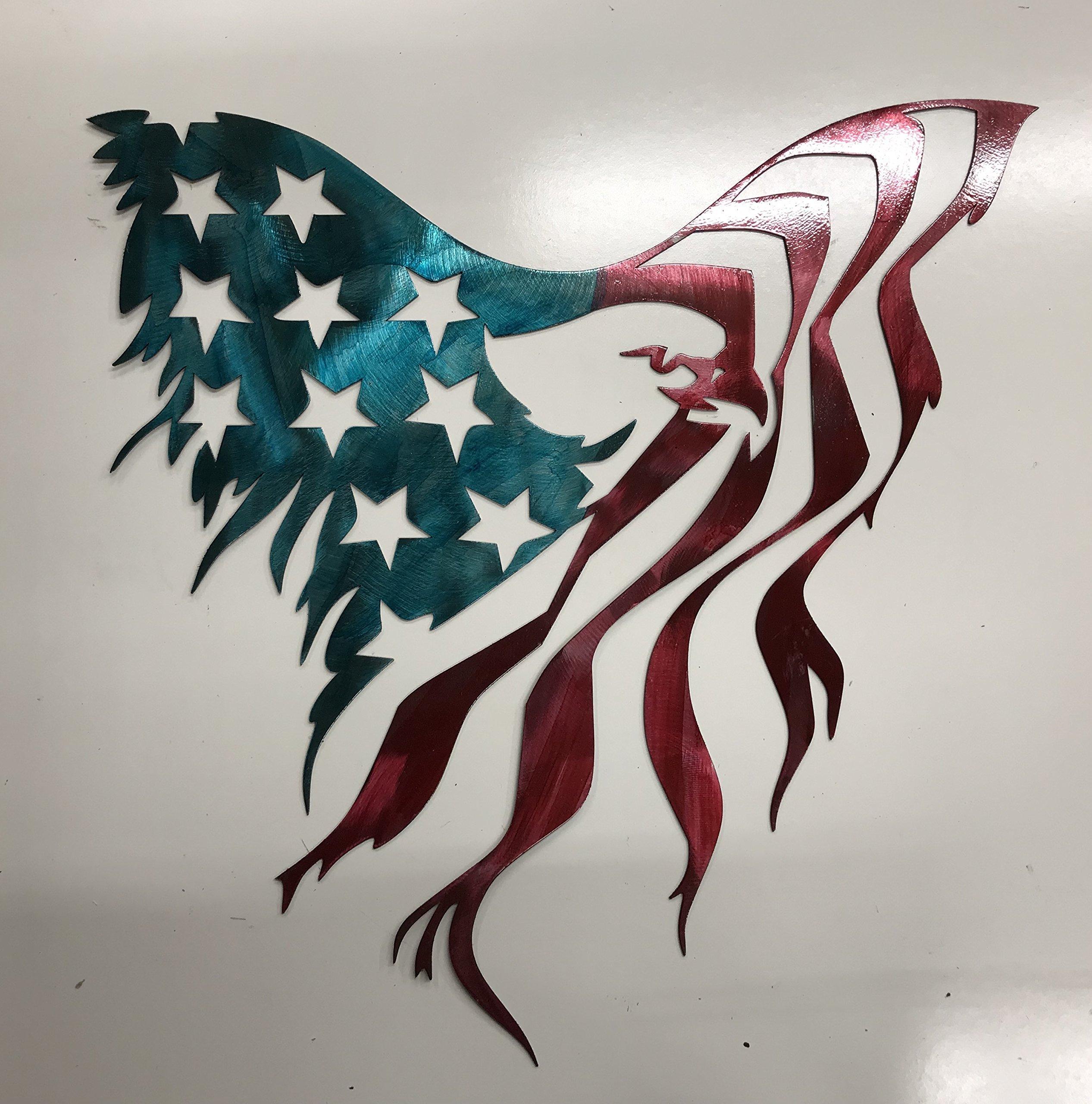 American Eagle Flag Metal Sign Wall Art Home Decor FREE SHIPPING