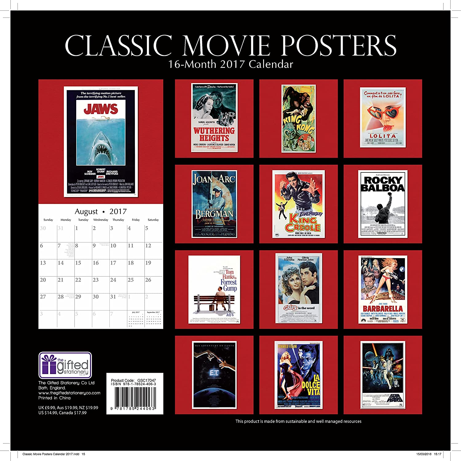 Amazon.: Classic Popular Hollywood Film Movie Posters 2017