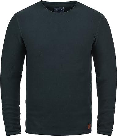 TALLA S. Blend Gabor Jersey De Punto Suéter para Hombre con Cuello Redondo De 100% Algodón