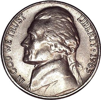 1963 D Jefferson Nickel 5C Brilliant Uncirculated at Amazon's