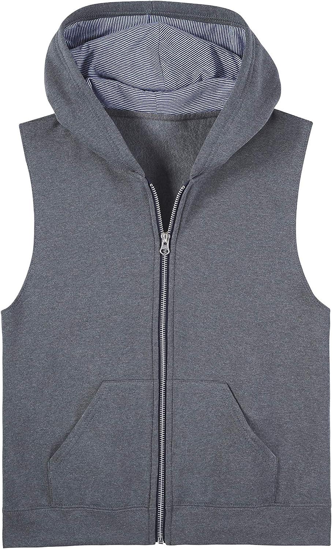 Fruit of the Loom Boys Fleece Full Zip Sleeveless Vest Vest