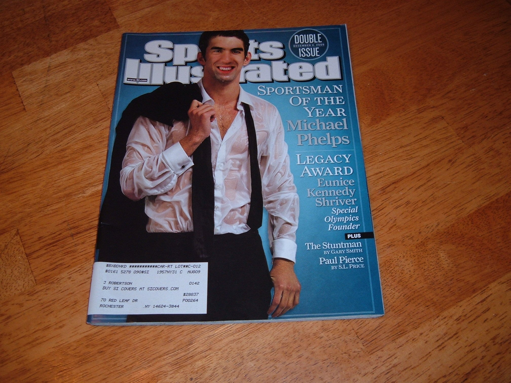 Download Sports Illustrated December 8 2008 Michael Phelps on Cover (Sportsman of the Year), Eunice Kennedy Shriver, New York Giants Offensive Line, Oregon vs Oregon State for Rose Bowl Berth, Paul Pierce/Boston Celtics, Mark Teixeira ebook