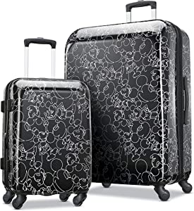 American Tourister Disney Hardside Luggage with Spinner Wheels, Mickey Mouse Scribbler Multi-Face, 2-Piece Set (21/28)