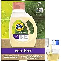 Tide Purclean Plant-based Liquid Laundry Detergent eco-box, HE Compatible, 105 fl oz 72 loads