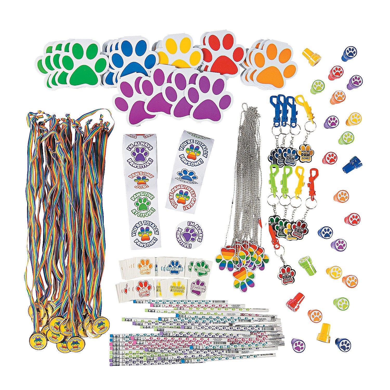 Fun Express Paw Print Assortment (250 Pieces) Bulk Toys Assortments by Fun Express