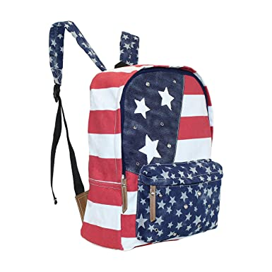 American Flag Backpack, Americana Rucksack Bag, Team USA, 12x15 In. Fits Tablet