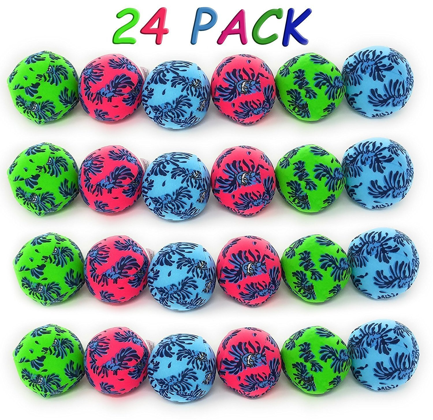 4E's Novelty Water balls pack of 24 3 inches bright colors by 4E's Novelty
