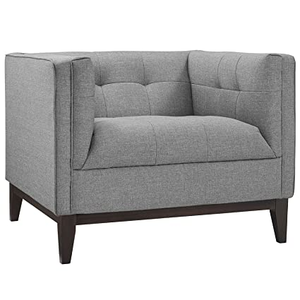 Modway EEI 2134 LGR Serve Modern Tuxedo Accent Arm Lounge Chair With  Upholstered Fabric
