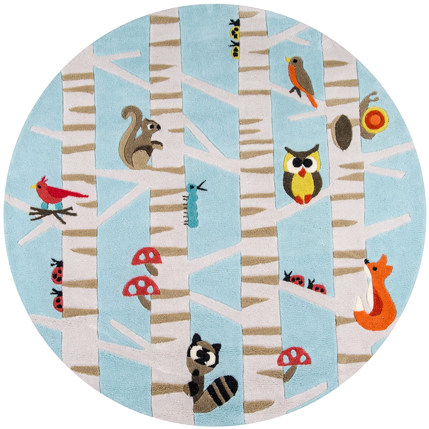Light Blue 2/' x 3/' Inc. 2 x 3 Momeni Rugs LMOJULMJ29LBL2030 Lil Mo Whimsy Collection Kids Themed Hand Carved /& Tufted Area Rug