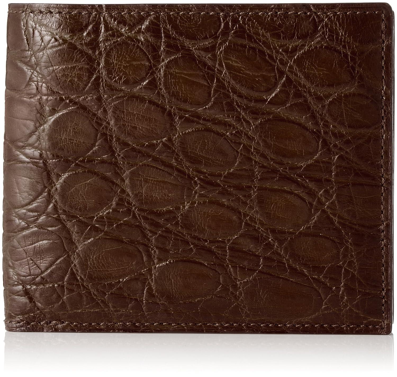 [セパージュ] 財布 ワニ革 二つ折り財布 カードポケット小銭入れ付き 紳士用 日本製 CPAA002NT B01L6QFBX2 ダークブラウン ダークブラウン