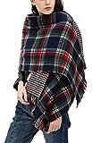 Urban CoCo Women Winter Warm Blanket Scarf Shawl Wrap (Series 3 navy)