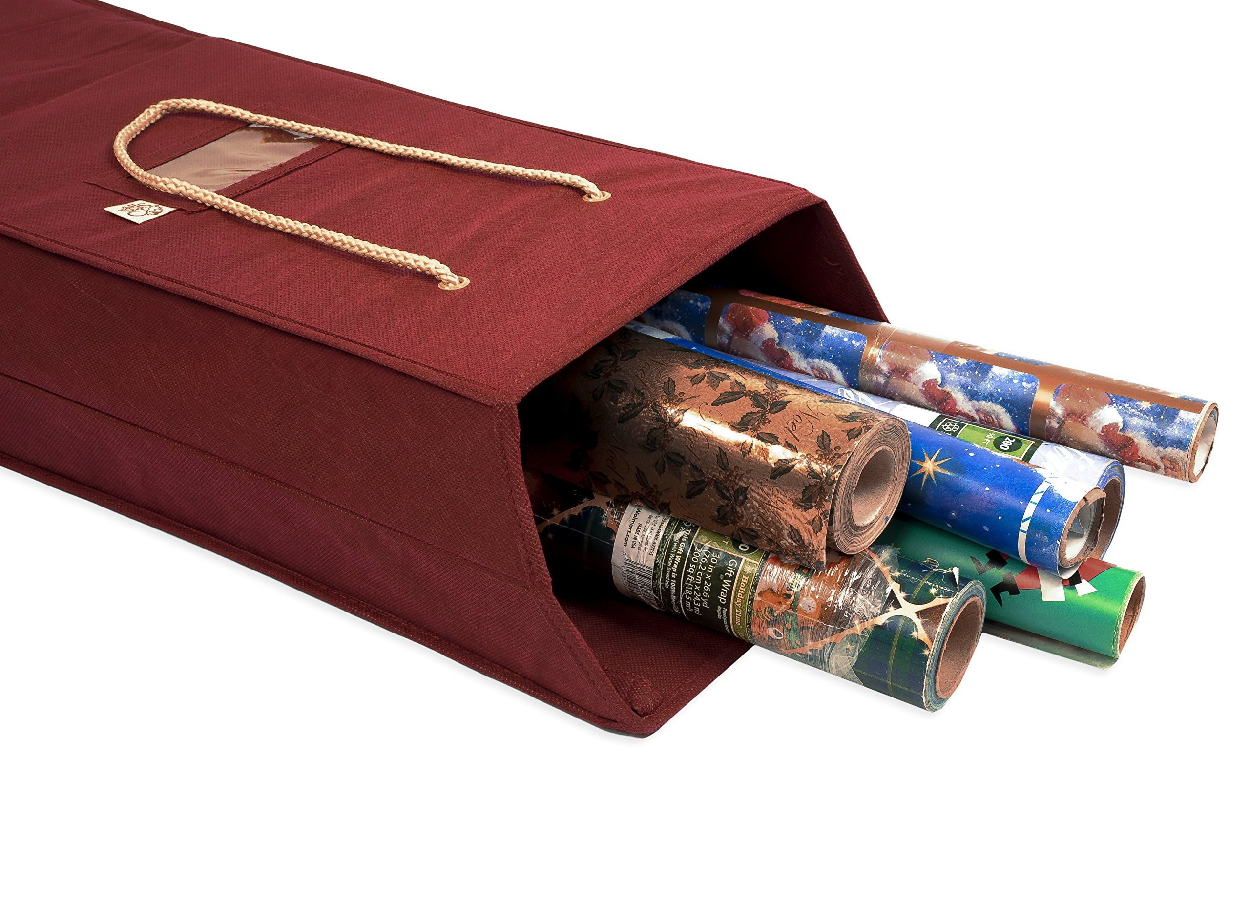 Santas Bags Decorated Wrapping Paper Storage Box
