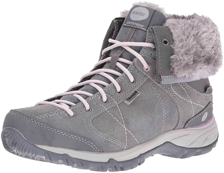 Hi-Tec Women's Equilibrio Bellini Snug I Waterproof-W Snow Sneaker B01A0FEPW8 5.5 B(M) US|Cool Grey/Violet Ice