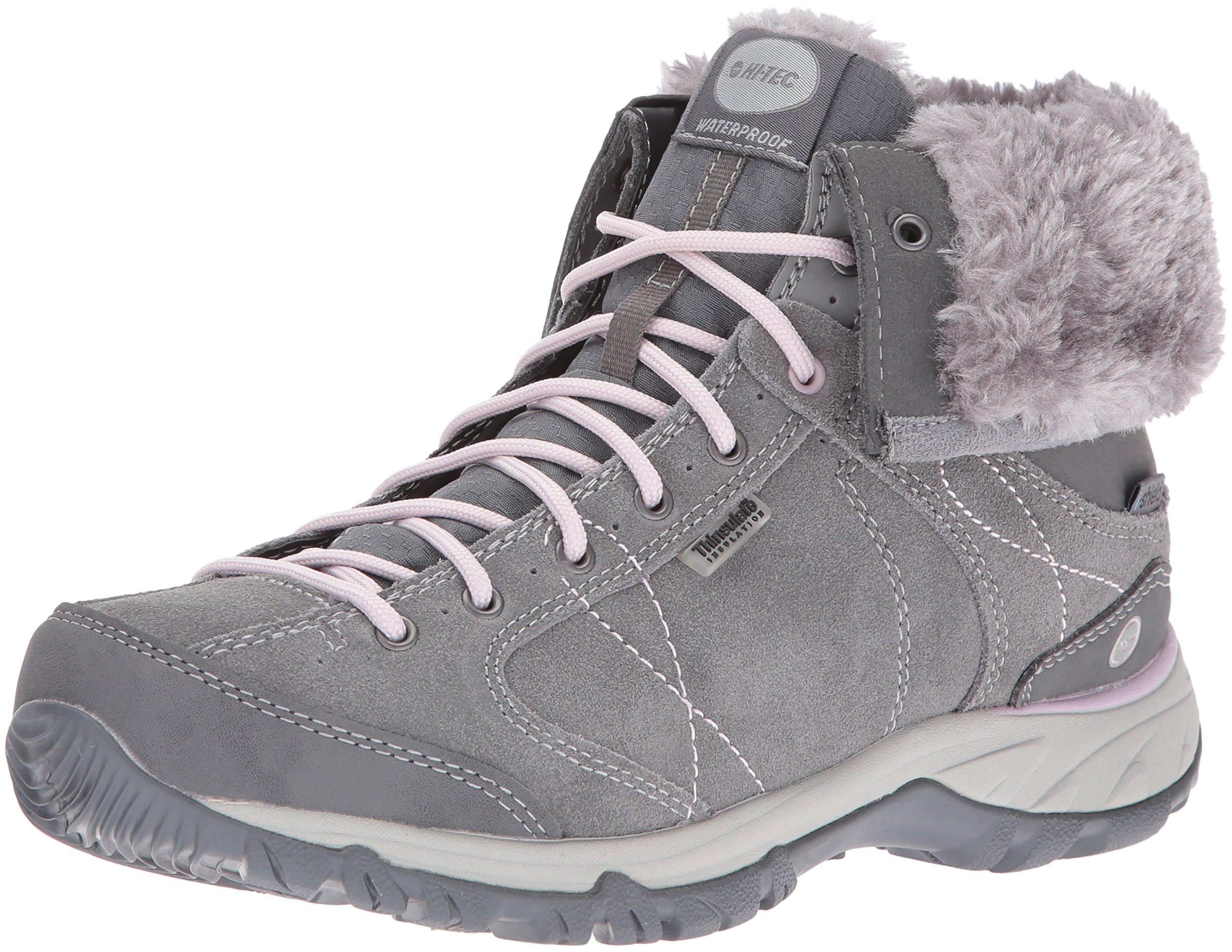 Hi-Tec Women's Equilibrio Bellini Snug i Waterproof-W Snow Sneaker, Cool Grey/Violet Ice, 11 M US