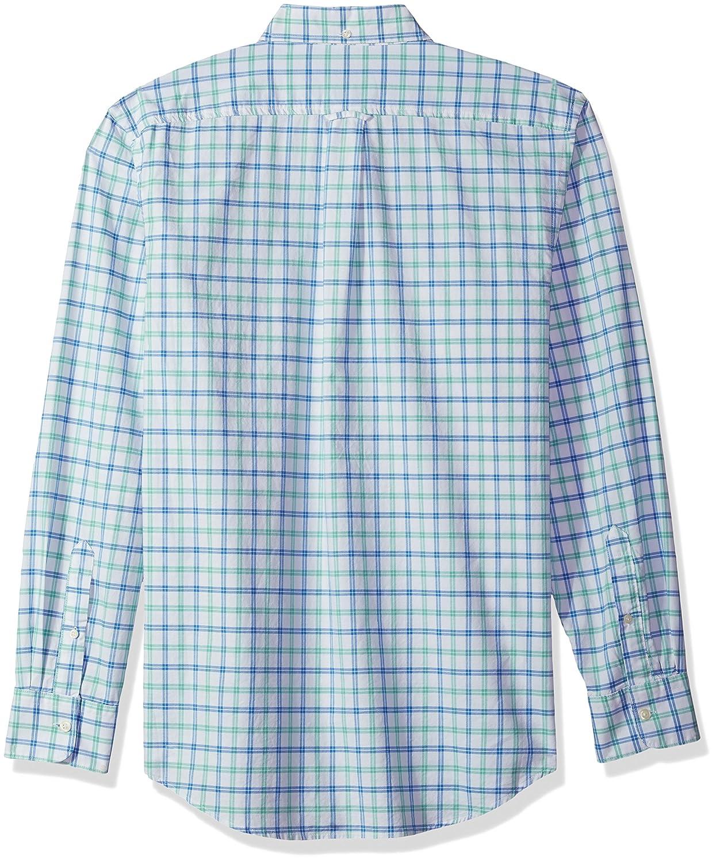 IZOD Mens Newport Long Sleeve Button Down Tattersal Oxford Shirt