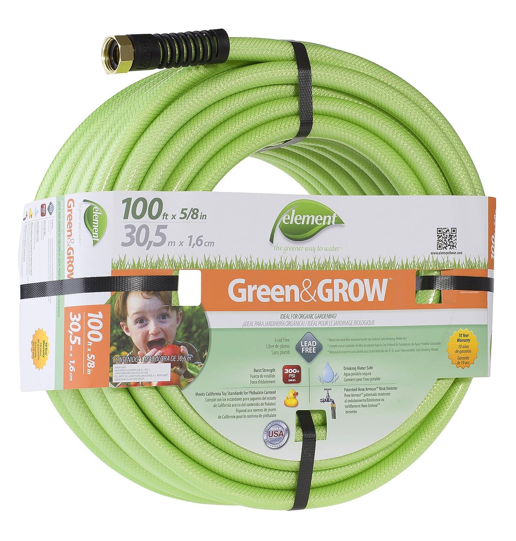 amazon com element green u0026grow lead free garden hose 100 ft with