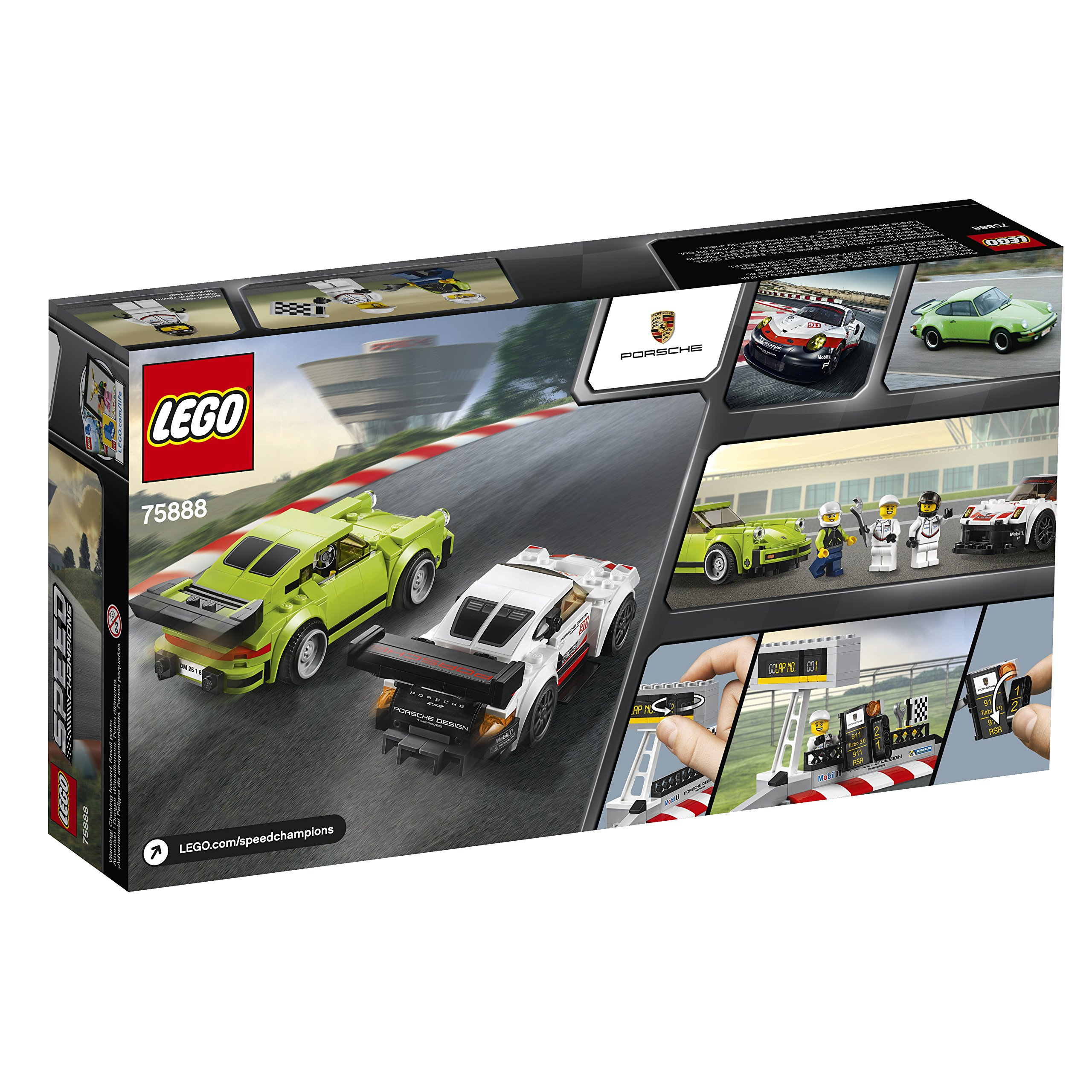 LEGO Speed Champions Porsche 911 RSR and 911 Turbo 3.0 75888 Building Kit (391 Piece) by LEGO (Image #9)