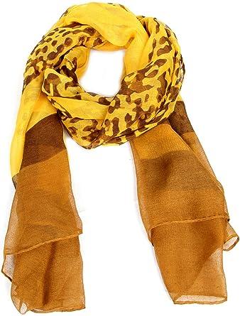 Calonice Amorino Foulard à imprimé léopard rouge pour femme 100% Polyester  (L) 185x95 1d3222bf511