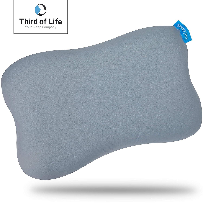 RE-CHARGE pillow Federa funzionale Cuscino cervicale ergonomico di alta gamma con carbone di bamb/ù Versatile: ideale per il letto Memory Foam come cuscino da viaggio e lombare arrotolato