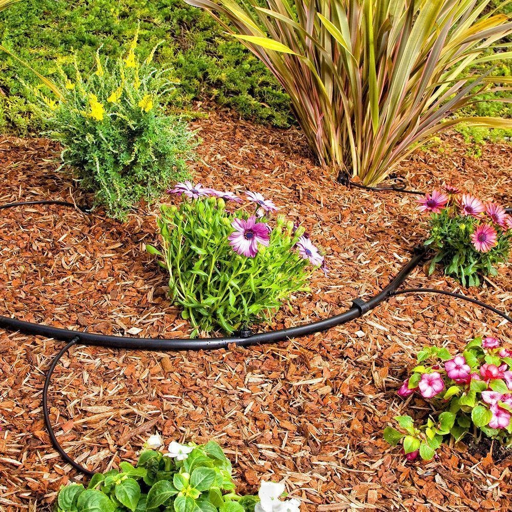 Drip Irrigation Line 1/4'' Tubing 100' ROLL, 6'' Emitter Spacing, .52 GPH, color black (.170 ID x 240 OD) - Will Work From Gravity Feed