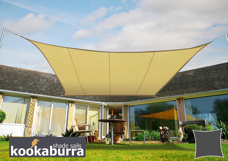 Beige Terrazzo o Balcone Kookaburra Tenda a Vela Quadrata 3,6m per Feste Resistente allAcqua Protezione Anti Raggi 96.5/% UV per Ombreggiare Il Giardino