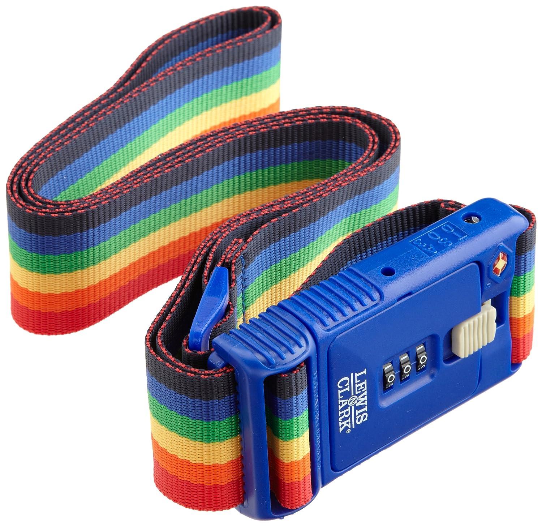 Clark Travel Sentry 3-Dial Combination Luggage Belt One Size TSA228RNB Lewis N Rainbow