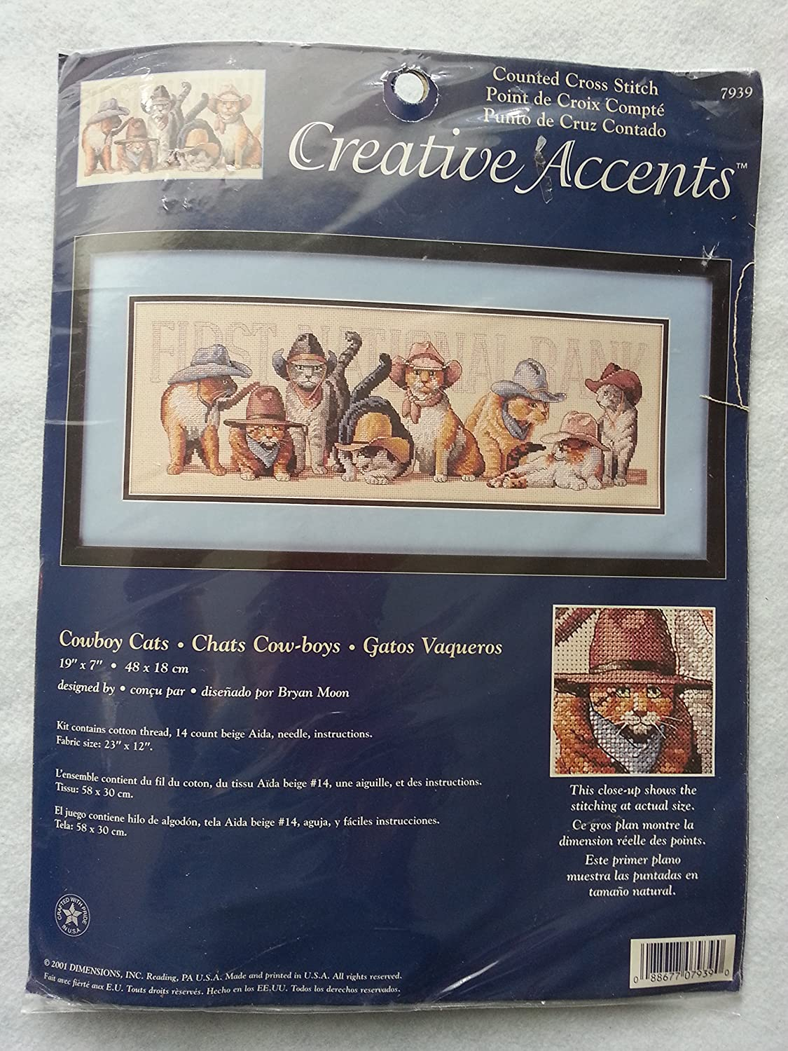 Amazon.com: Counted Cross Stitch -- Cowboy Cats -- Chats Cow-boys -- Gatos Vaqueros -- 19