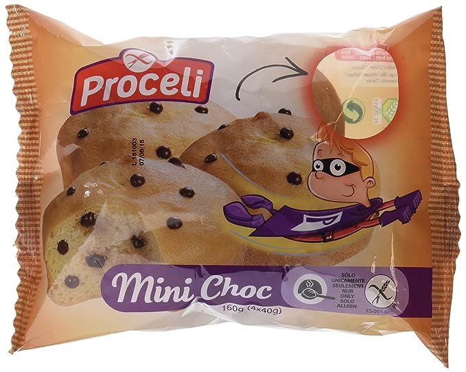 Proceli Mini Choc Sin Gluten - Paquete de 4 x 40 gr - Total ...
