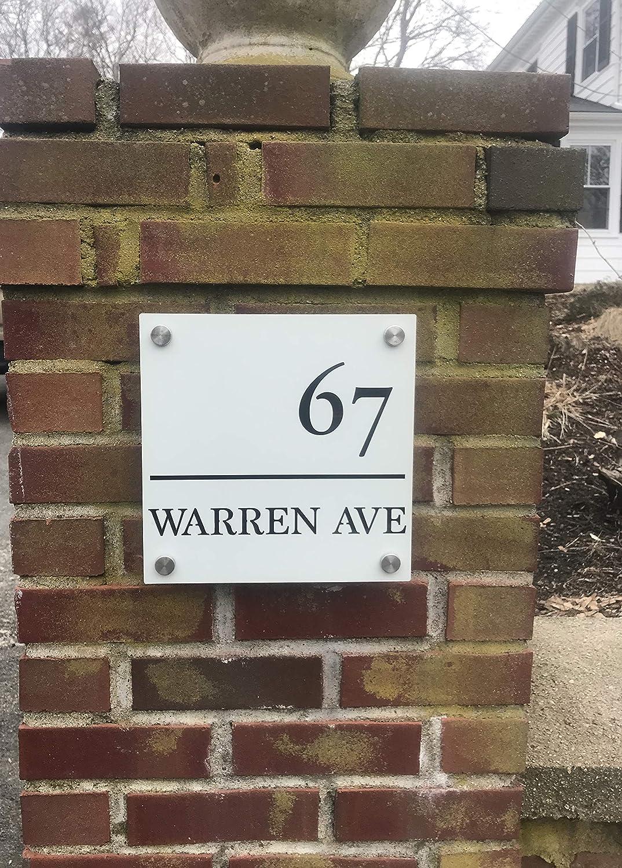 Amazon.com: CUSTOM House Number Sign 10x10\