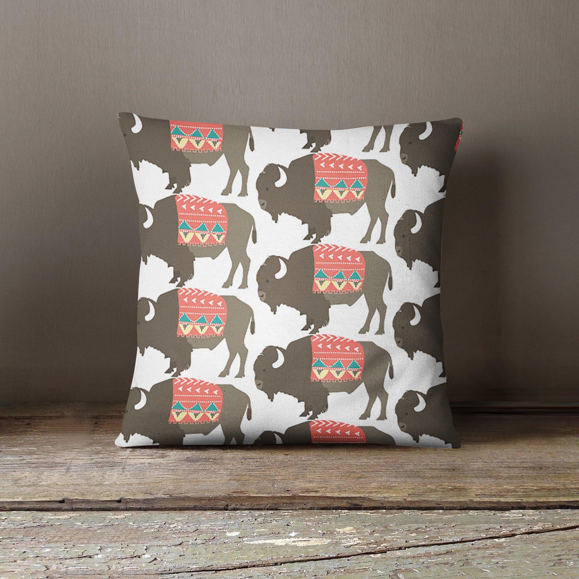 Buffalo Pillow Cover