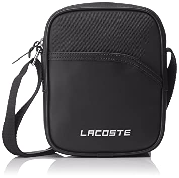 43b4c1011cf Amazon.com | Lacoste Mens Vertical Camera Bag - Black | Luggage & Travel  Gear