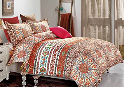 boho colorful covers fadfay queen bedding bohemian exotic size product duvet king brand set