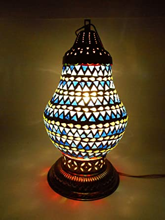 Susajjit tribal design mosaic decorative table lamp charming glass night lamp good home accent for your