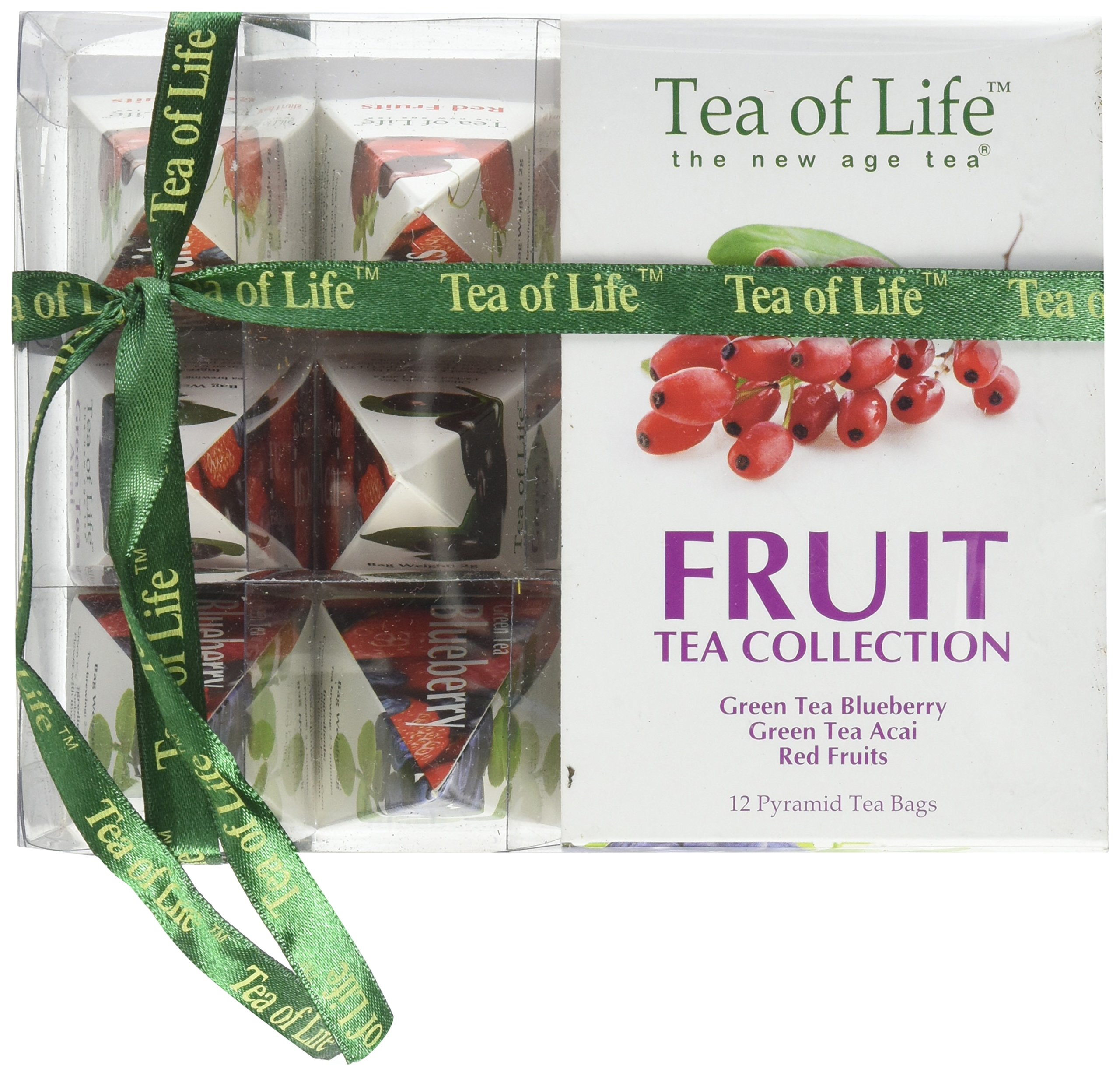Tea Of Life 12 Piece Super Fruit Tea Gift Collection, 2 Ounce