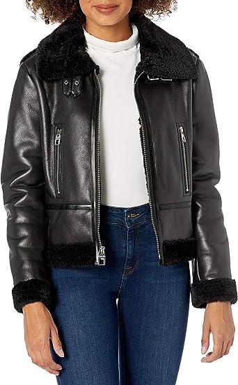 Women Stylish Genuine Lambskin Motorcycle Bomber Biker Leather Jacket WJ 81
