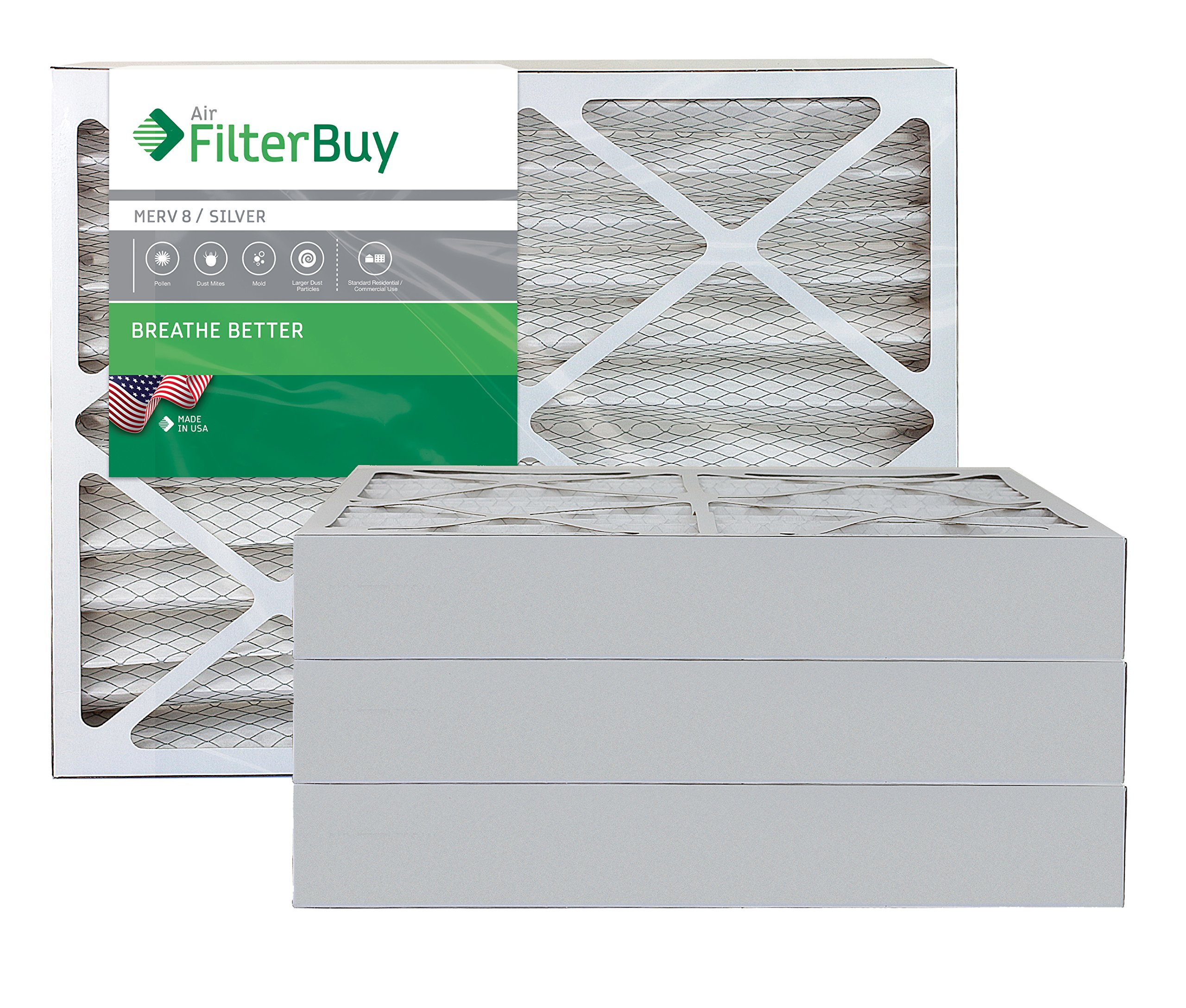 Nordic Pure 19/_1//4x23/_1//4x2 Exact MERV 10 Pleated AC Furnace Air Filters 4 Pack