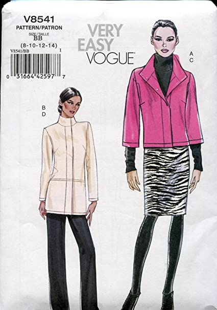 Vogue Pattern V8483 Misses Unlined Jacket and Pants The Woman Size B5 8-10-12-14-16