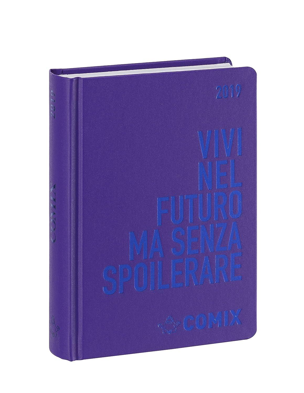 Comix Diario 2018/2019 datato 16 mesi, formato Mini 11x15.3 cm, Nera stampa bianca Franco Cosimo Panini Editore 58981