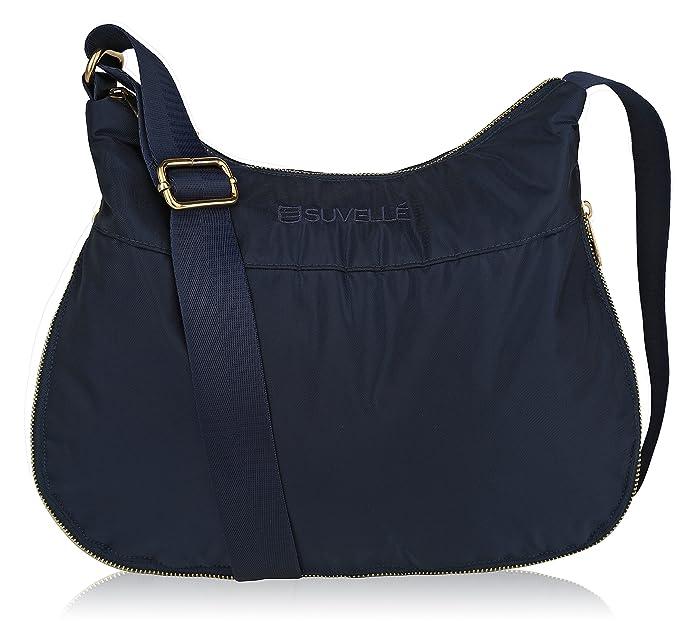 Suvelle Lightweight Hobo Travel RFID Blocking Expandable Crossbody Bag Multi Pocket Shoulder Handbag BA20: Amazon.es: Zapatos y complementos