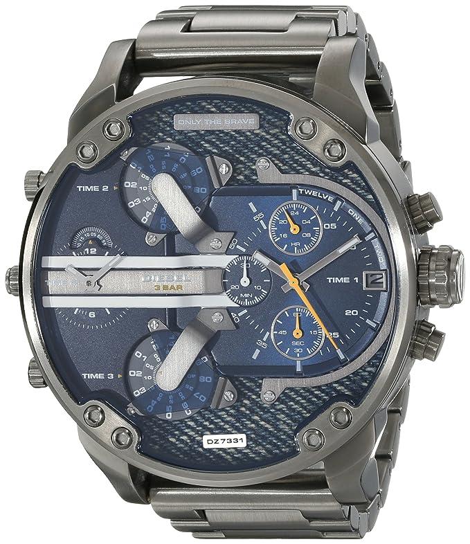 a2f233cdc1b3 Amazon.com  Diesel Men s DZ7331 Mr Daddy 2.0 Gunmetal-Tone Stainless Steel  Watch  Diesel  Watches